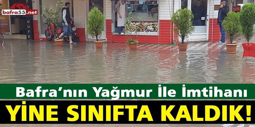 Bafra'da Sel! Sağanak Yağış olumsuz etkiledi...