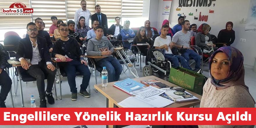 Engellilere Yönelik Hazırlık Kursu Açıldı