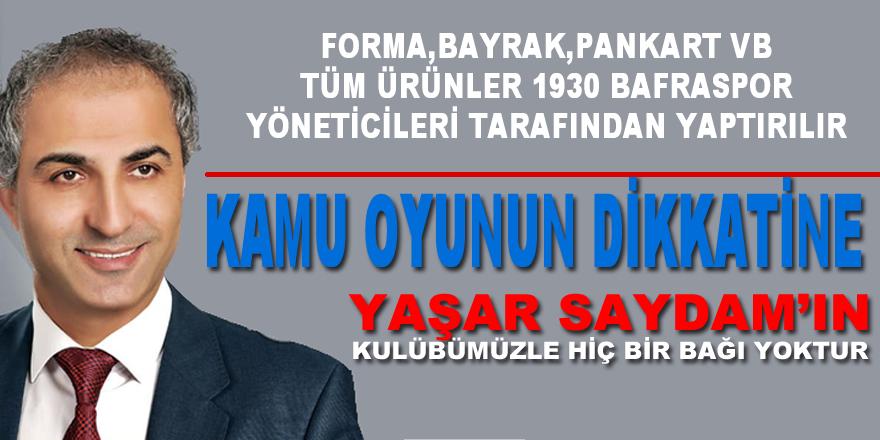 1930 Bafraspor Başkanı Fatih Yıldız'dan Basın Açıklaması