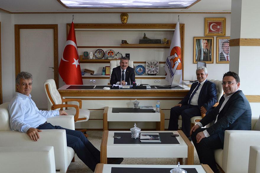 Üç Kaymakamdan Başkanı Özdemir'e ziyaret
