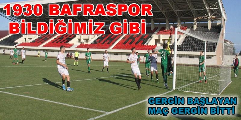 1930 Bafraspor Lige 1 Puanla Başladı