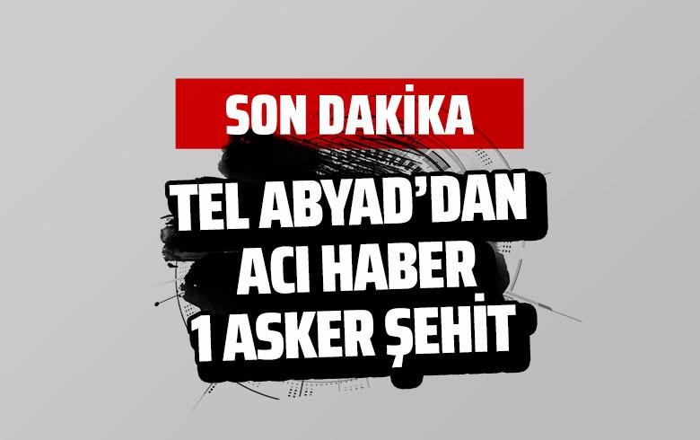 Tel Abyad'dan acı haber! 1 asker şehit