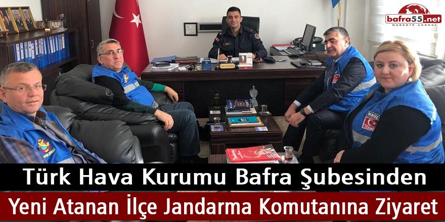 THK Bafra Şubesinden Yeni Atanan İlçe Jandarma KomutanınaZiyaret