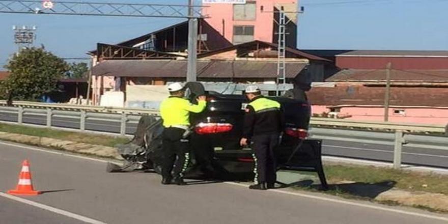 Alaçam  yolundaki kazada 1 kişi  yaralandı