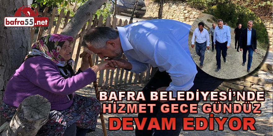 Bafra Belediyesinde Hizmetler Sürüyor