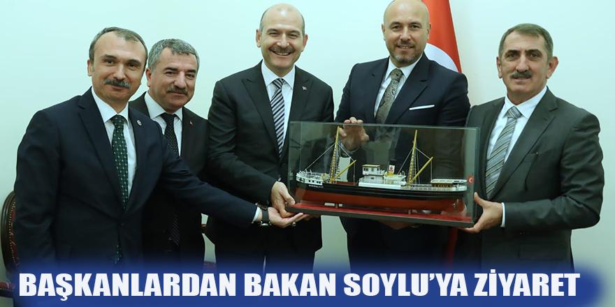 Başkanlardan Bakan Soylu'ya ziyaret