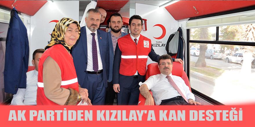 Bafra AK Parti İlçe Teşkilatından Kan Kampanyasına Destek