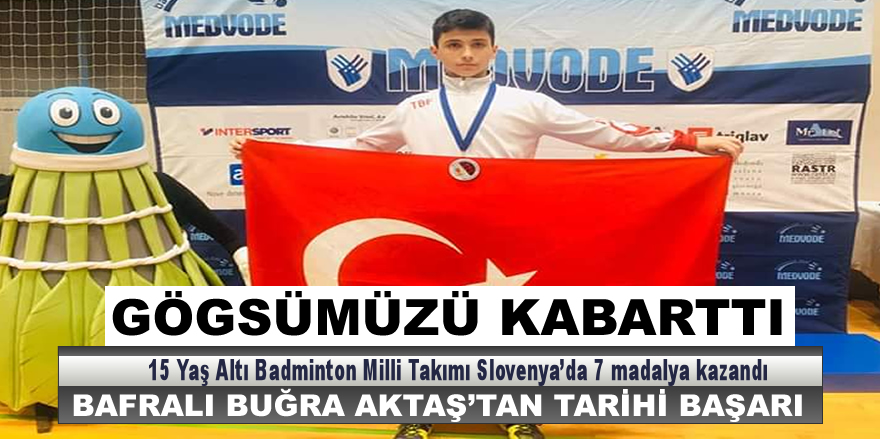 Bafralı Buğra Slovenya'dan Madalyayla Döndü