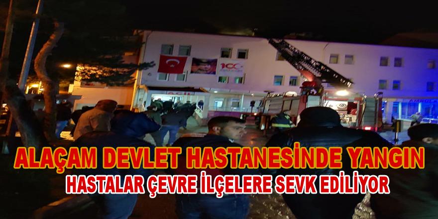 Alaçam Devlet Hastanesinde Yangın