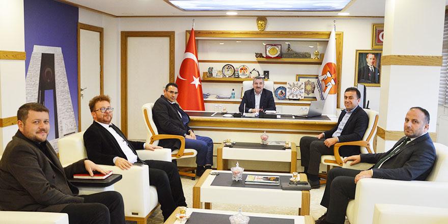 Saski Müdüründen Başkan Özdemir'e ziyaret