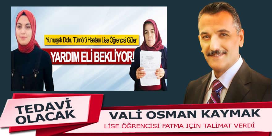 Samsun Valisi Osman Kaymak Talimat verdi,tedavi masrafı karşılandı