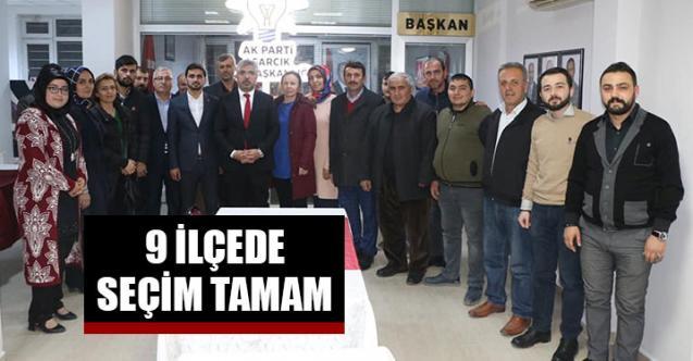AK Parti Samsun'da 9 ilçede seçim tamam