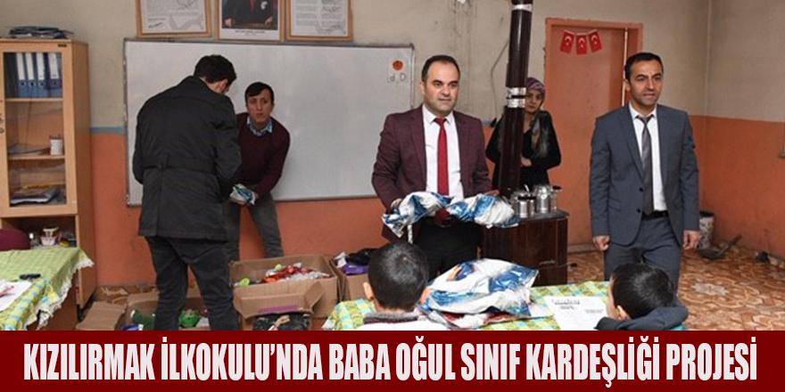 KIZILIRMAK İLKOKULU'NDA BABA OĞUL SINIF KARDEŞLİĞİ PROJESİ