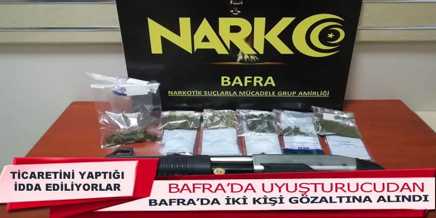 Bafra'da Uyuşturucu Operasyonu : 2 gözaltı