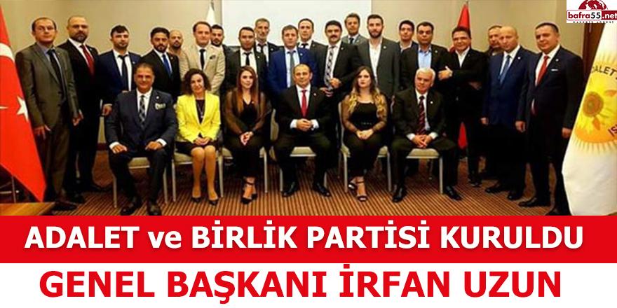 İrfan Uzun, Adalet Birlik Partisi'ni Kurdu