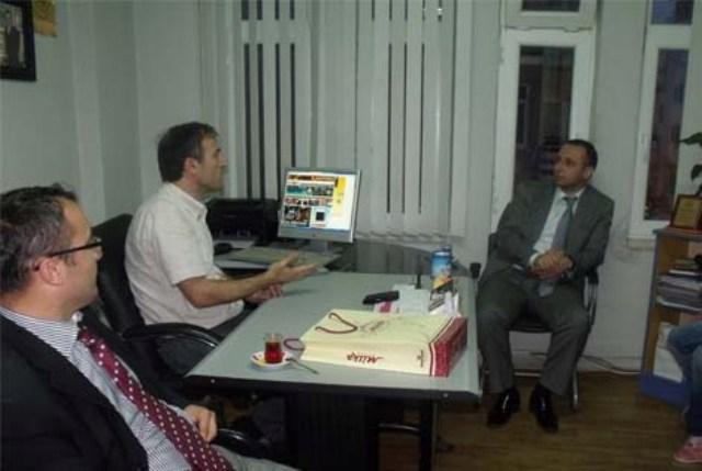 ÜLKÜ OCAKLARI'NDAN BARIŞ FM VE BAFRA 55 NET'E ZİYARET