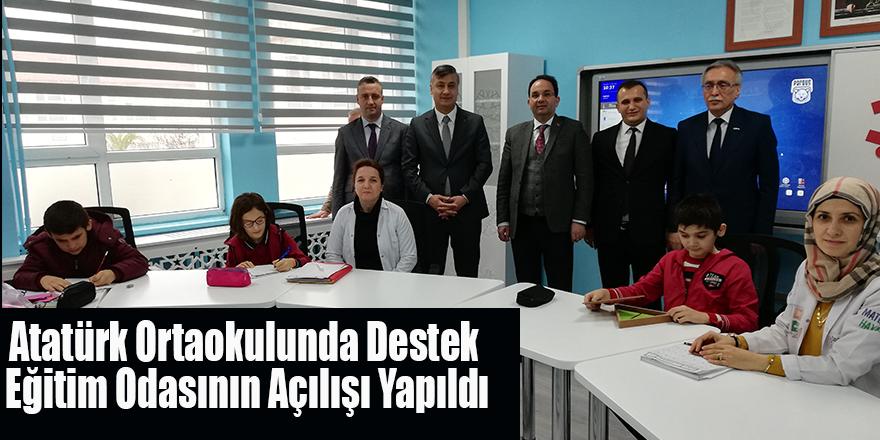 Atatürk Ortaokulunda Destek Eğitim Odasının Açılışı Yapıldı