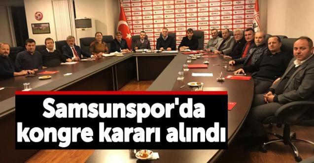 Samsunspor'da flaş karar