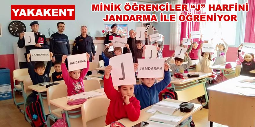 """Minik Öğrenciler """"J"""" Harfini Jandarma ile öğreniyor"""