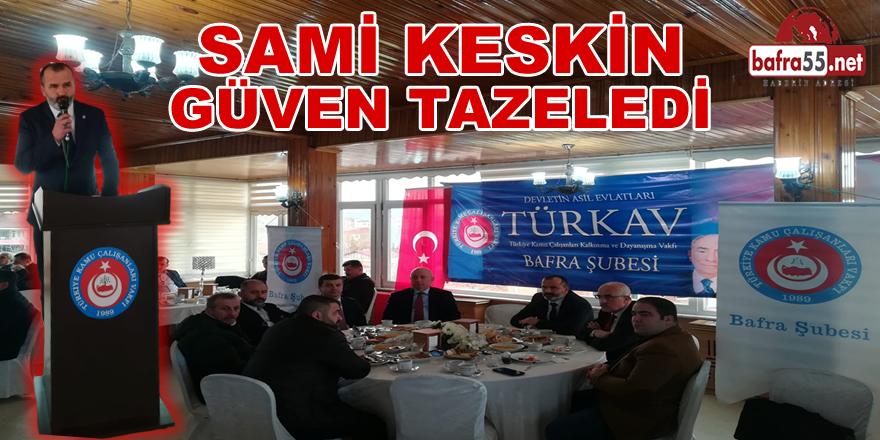 Türkav Bafra Şubesi Olağan Genel Seçimi Yapıldı