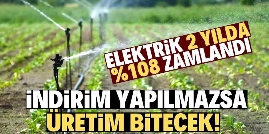 Çiftçiyi elektrik yakıyor!
