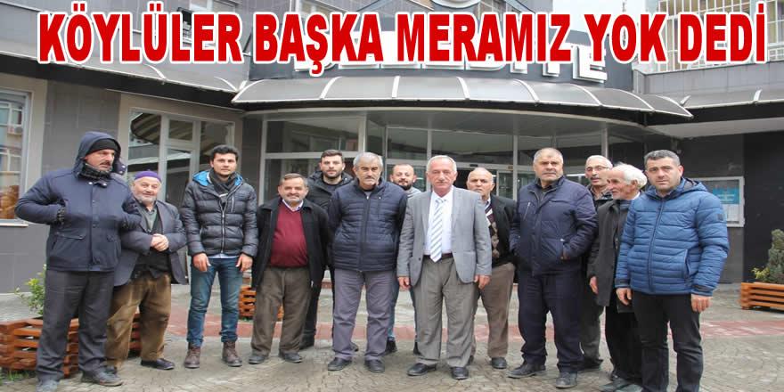 TÜRBE MAHALLESİNDEN HAL TEPKİSİ, BAŞKA MERAMIZ YOK!