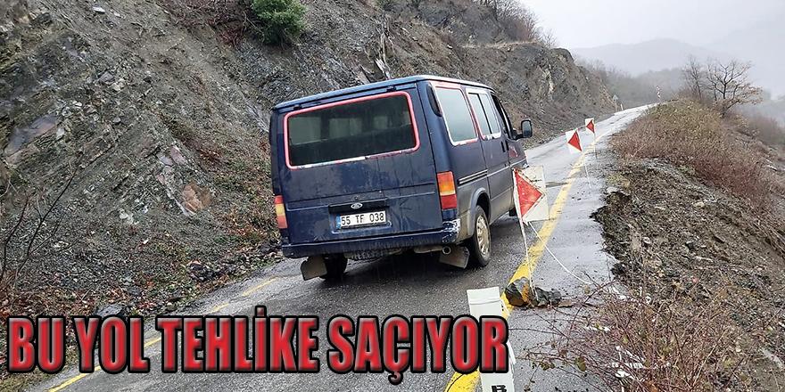 Yakakent-Karaba Grup Yolunda Heyelan
