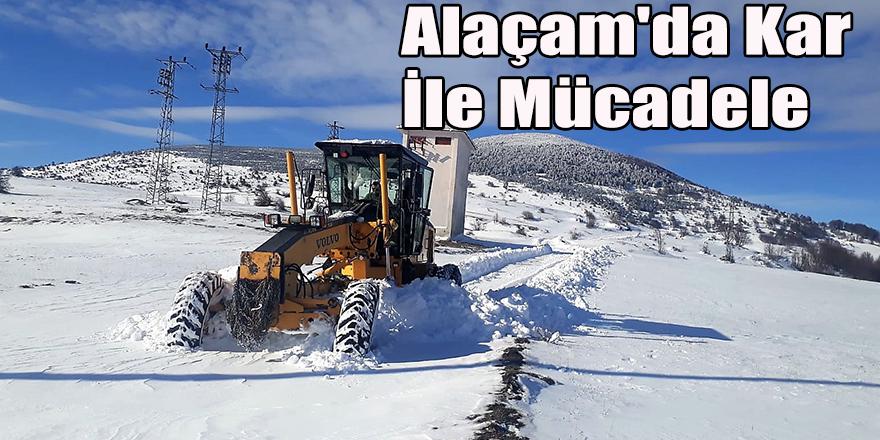 Alaçam'da Kar İle Mücadele
