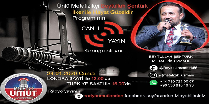 Beytullah Şentürk (Hoca) İngiltere'de Türk Radyosuna Konuk Oluyor