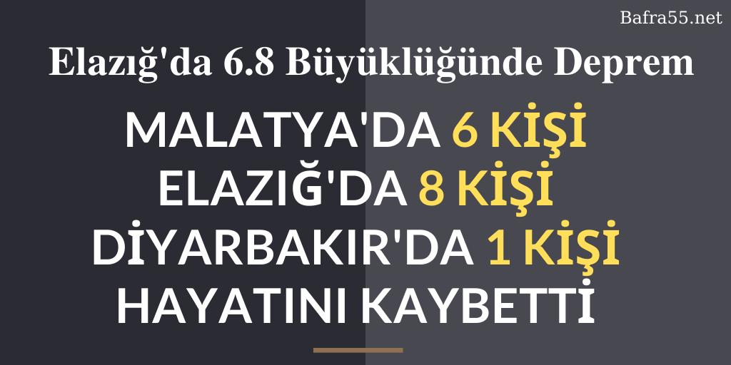 Malatya'da 6, Elazığ'da 8, Diyarbakır'da 1 Kişi Hayatını Kaybetti