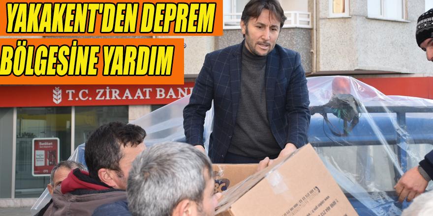 YAKAKENT'DEN DEPREM BÖLGESİNE YARDIM