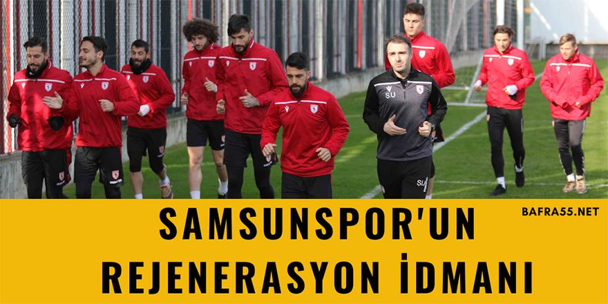 Samsunspor'un Rejenerasyon İdmanı