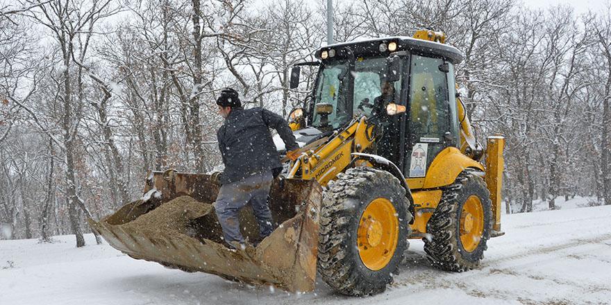 Havza'da Yoğun Kar Yağışı