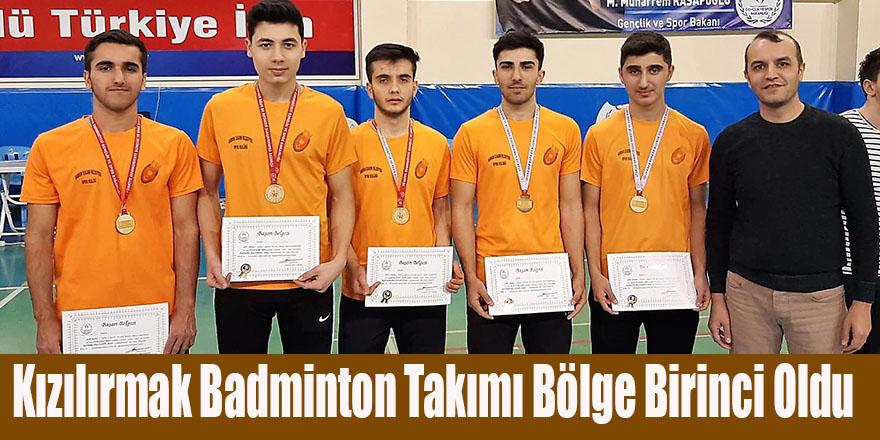 Kızılırmak Badminton Takımı Bölge Birincisi Oldu