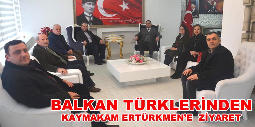 Kaymakam Ertürkmen, Balkan Türklerini Makamında Kabul Etti