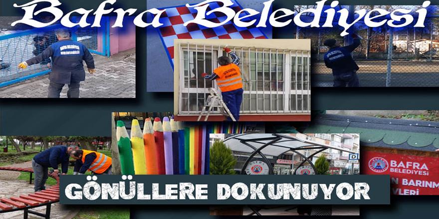 BAFRA BELEDİYESİ GÖNÜLLERE DOKUNUYOR.