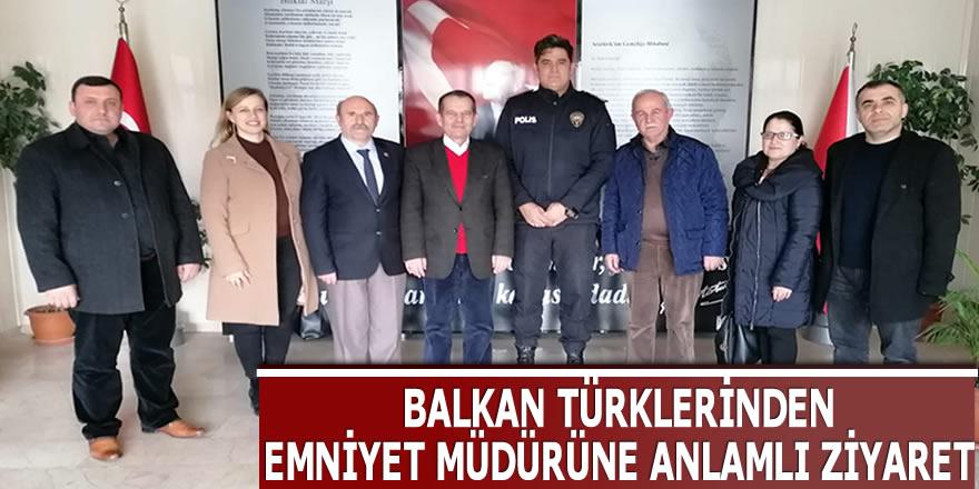 Balkan Türkleri, Emniyet Müdürü Süleyman Gökay Gökdoğan'ı makamında ziyaret etti.