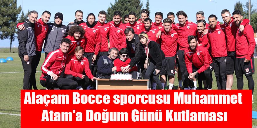 Alaçam Bocce sporcusu Muhammet Atam'a Doğum Günü Kutlaması