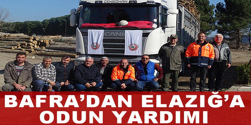 Bafra'dan Elazığ'a Odun Yardımı