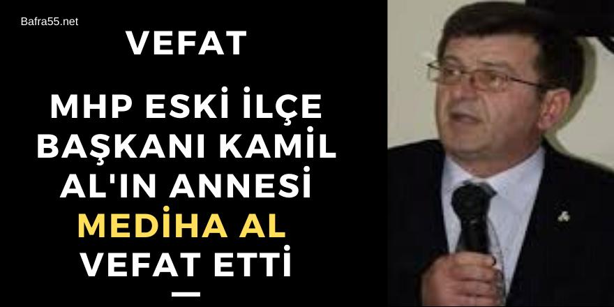 Mhp Eski İlçe Başkanı Kamil Al'ın Annesi Vefat Etti