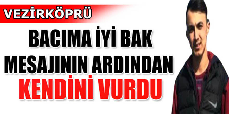 Samsun Vezirköprü'de 19 yaşındaki genç intihar etti.