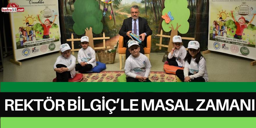 Minik Öğrenciler için OMÜ Radyo'da Rektör Bilgiç'le Masal Zamanı
