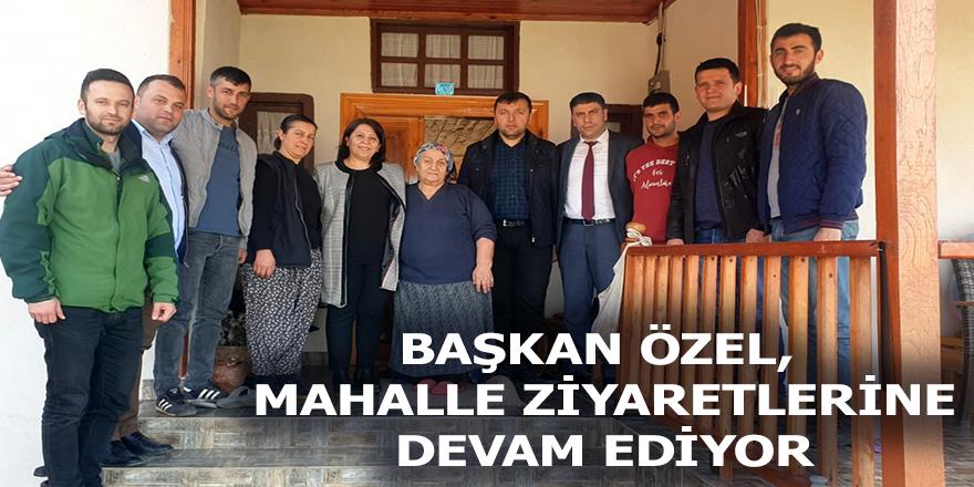 Ladik Belediye Başkanı Nurhan Yapıcı Özel Büyükalan Mahallesini Ziyaret Etti.