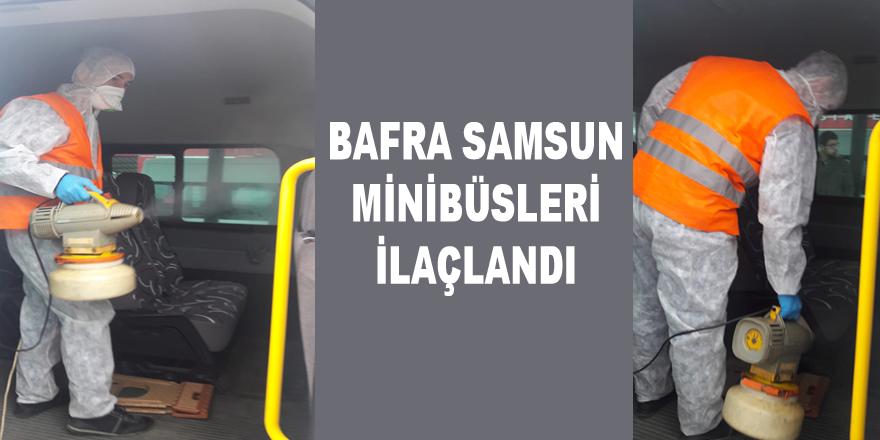 Samsun Bafra Minibüsleri İlaçlandı