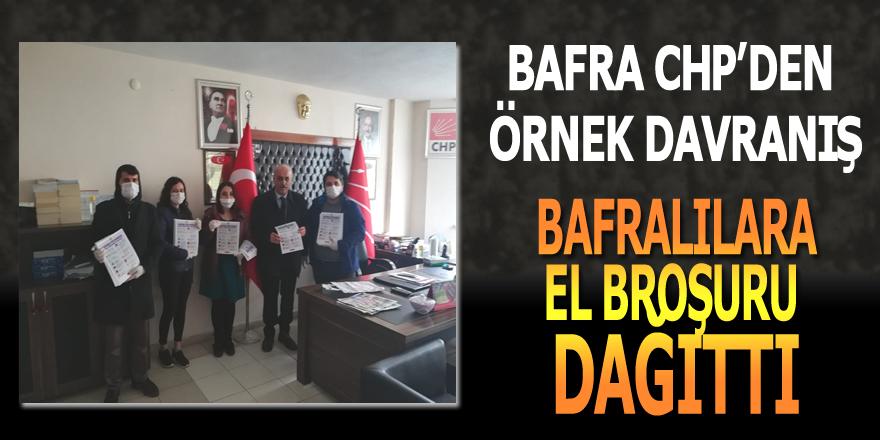 CHP Bafra İlçe Başkanlığı Bafralılara Virüsden Korunma Broşürü Dağıttı