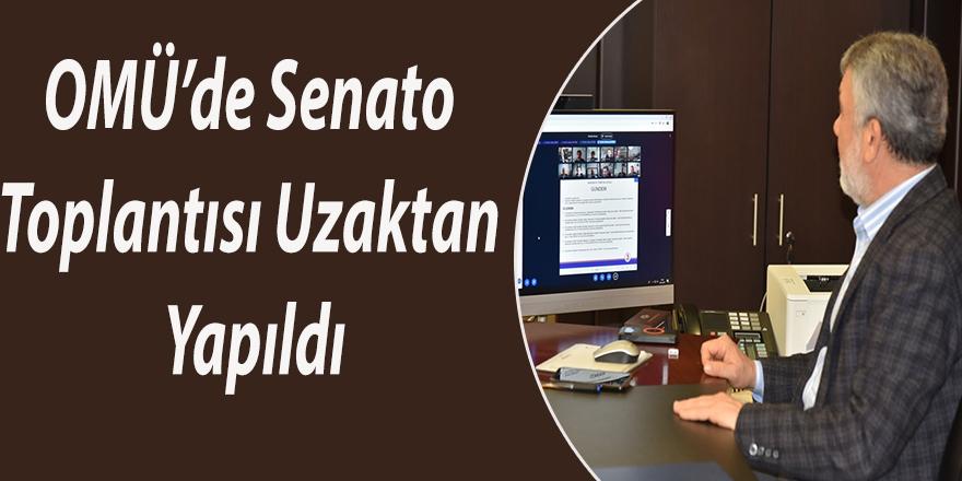 OMÜ'de Senato Toplantısı Uzaktan Yapıldı