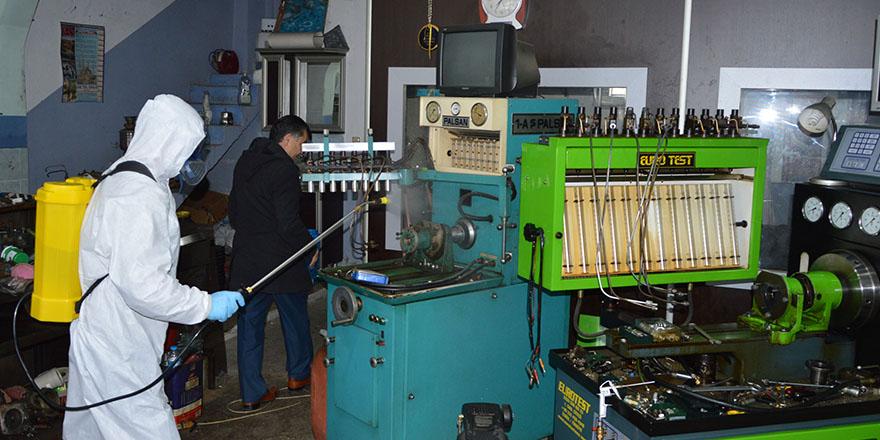 Havza'da Sanayide Dükkanlar İlaçlandı