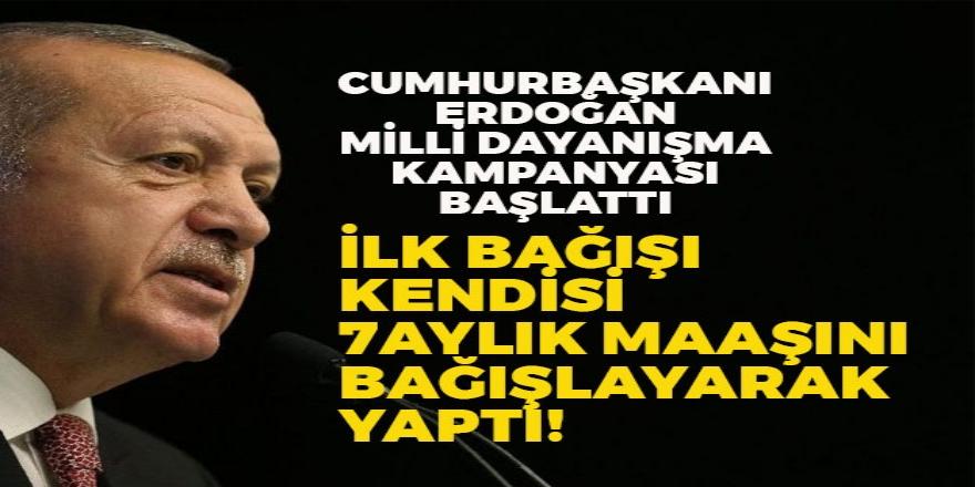 """Erdoğan,""""7 Aylık Maaşını Bağışladı'"""