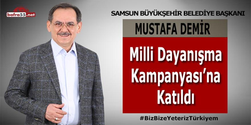 Kampanyaya ilk katılan Belediye Başkanı Mustafa Demir