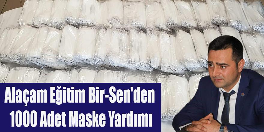 Alaçam Eğitim Bir-Sen'den 1000 Adet Maske Yardımı